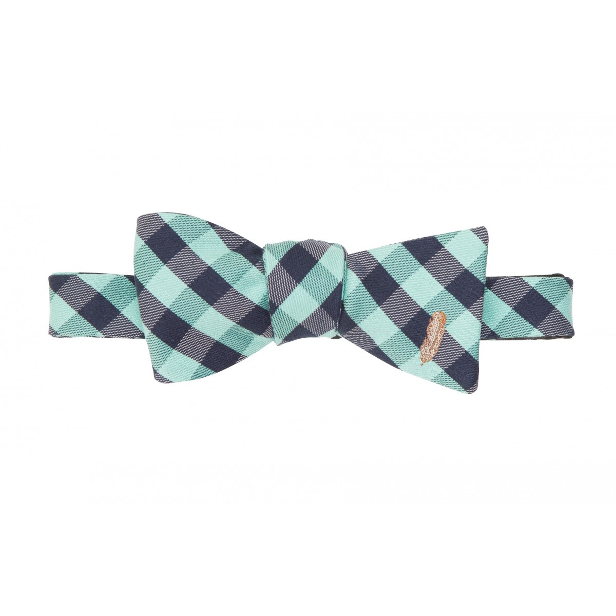 Feather Check Bow: Green
